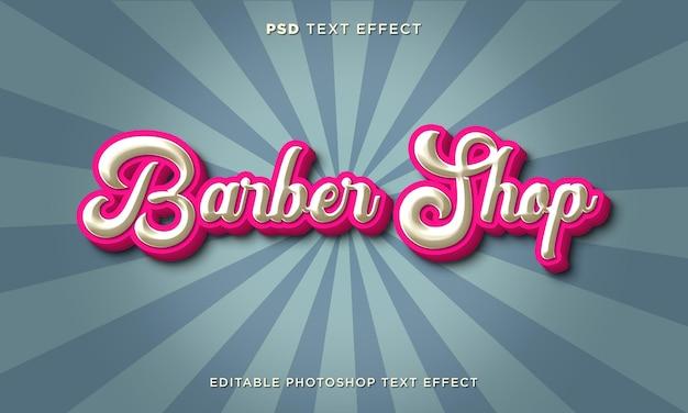 3 modèle d'effet de texte de salon de coiffure