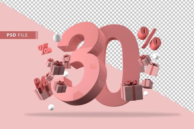30% de réduction sur le rendu 3d de promotion isolé