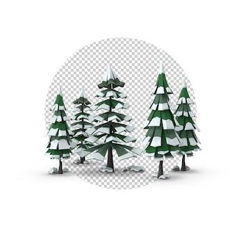 3d arbres de noël deuxième perspective