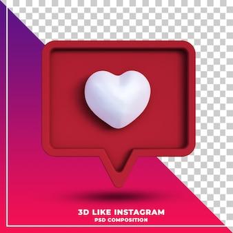 3d, comme, notification, concept, rendu, isolé