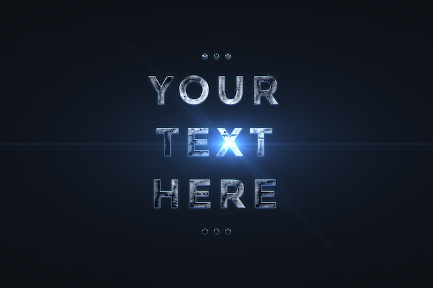 3d effet métal texte police