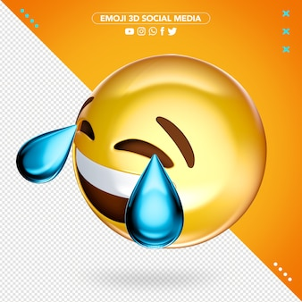 3d emoji pleurer en riant de joie