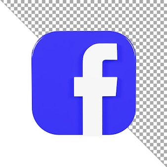 3d icône logo facebook minimaliste
