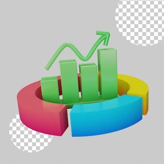 3d illustration de camembert infographique