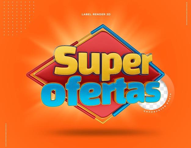 3d label super offres de composition au brésil