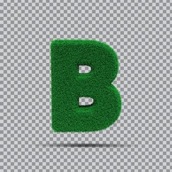 3d lettre b de l'herbe verte
