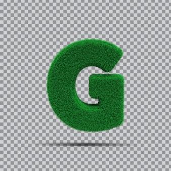3d lettre g de l'herbe verte