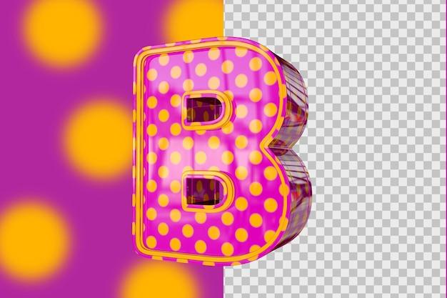3d lettres b isolés