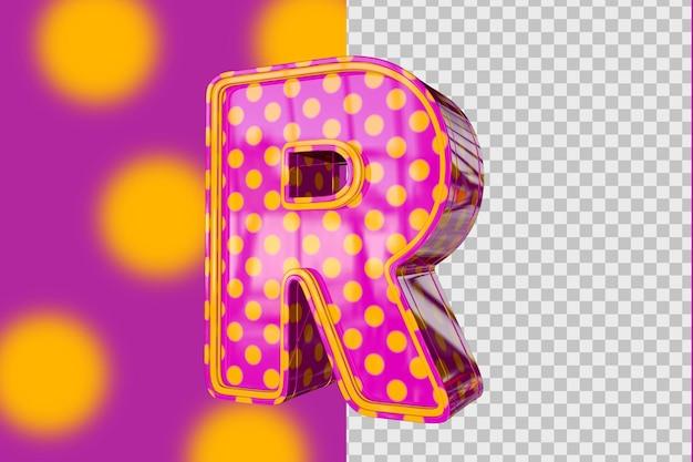 3d lettres r isolé