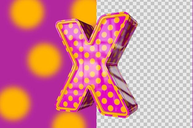3d lettres x isolé