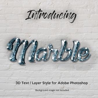 3d marbre granit texturé effets de texte de style de couche photoshop