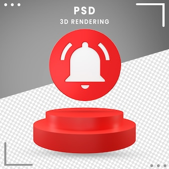 3d, moderne, rotation, icône, notification, isolé