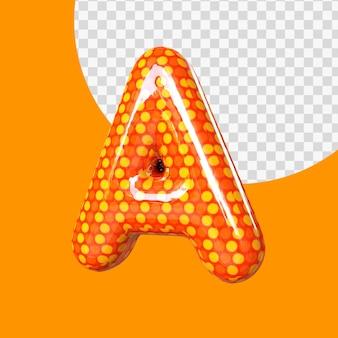 3d réaliste lettre a alphabet ballon feuille d'hélium