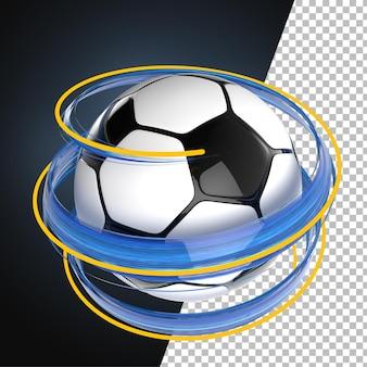 3d render ball splash paint football soccer