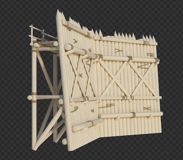 3d, rendu, bâtiment, structure, isolé