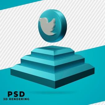 3d, rendu twitter, isolé