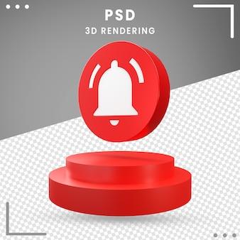 3d, rotation, icône, moderne, notification, isolé