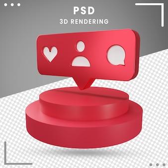 3d, rotation, logo, icône, instagram, 3d, rendre