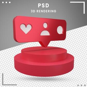 3d, rotation, logo, icône, instagram, isolé