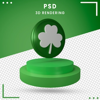 3d vert tourné le jour de la saint-patrick isolé