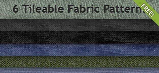 6 gratuit motifs de tissus tileable