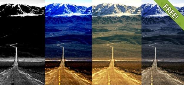 7 photo libre effet actions photoshop