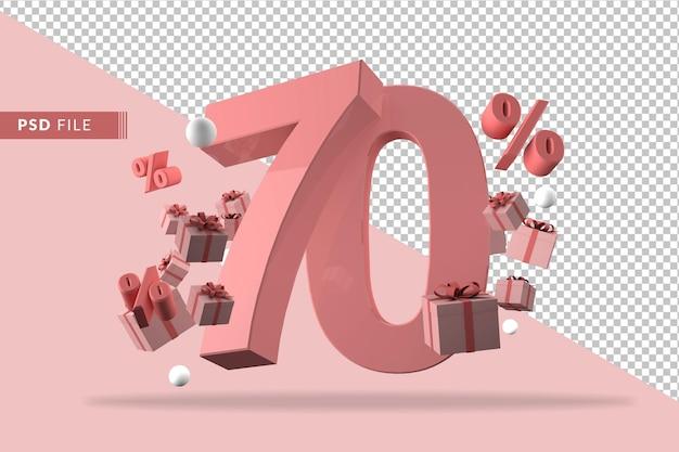 70% de réduction sur le rendu 3d de promotion isolé