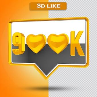 900k icône transparente 3d