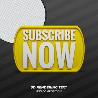 Abonnez-vous maintenant golden 3d