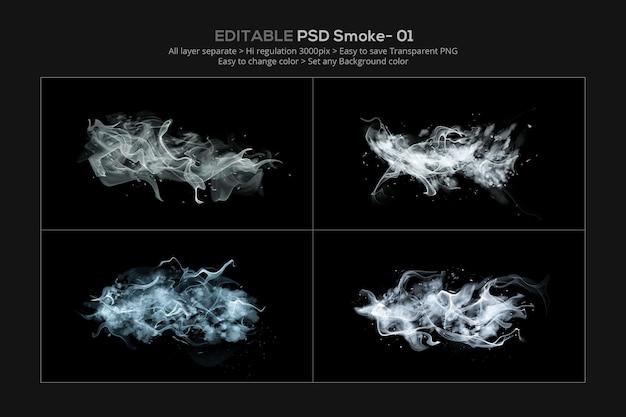 Abstrait fumée blanche isolée