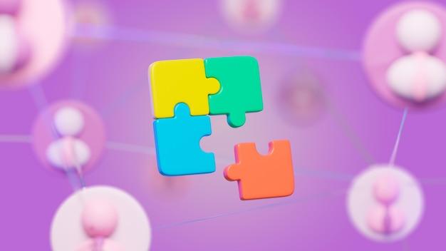 Abstrait avec puzzle