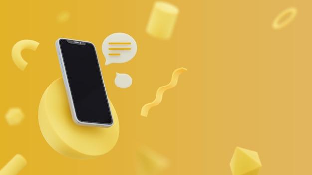 Abstrait avec téléphone