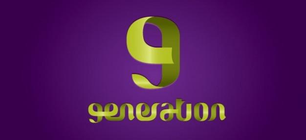 Abstrait tourbillonne conception de logo