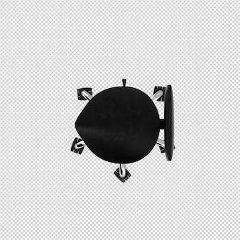 Accessoires de beauté isométrique rendu 3d isolé