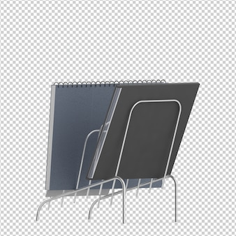 Accessoires de bureau isométriques
