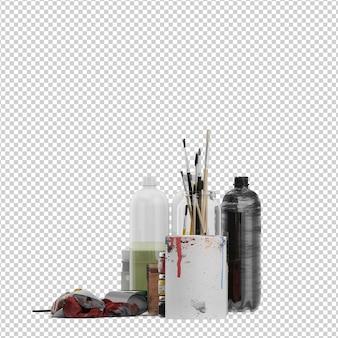 Accessoires de peinture isométrique