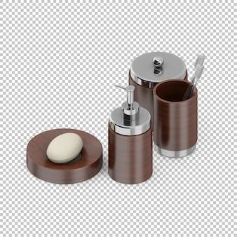 Accessoires de salle de bain isométrique