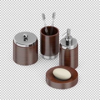 Accessoires de salle de bain isométriques