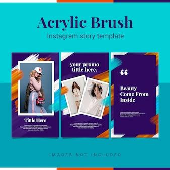 Acrylique modèle instagram histoire instagram