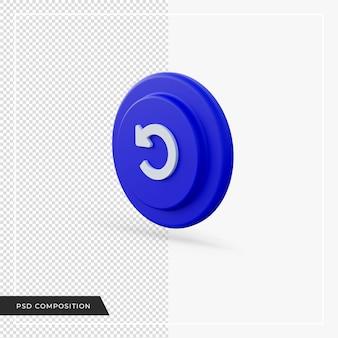 Actualiser l'icône flèche bleue dans le rendu 3d