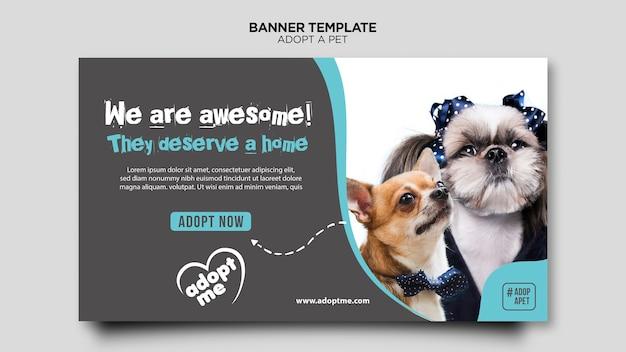 Adopter le modèle de bannière d'animaux