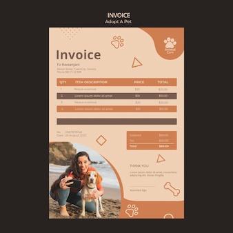 Adopter un modèle de facture pour animaux de compagnie