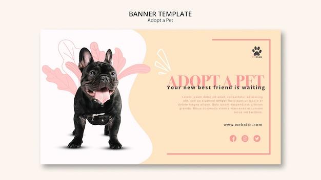 Adopter le thème du modèle de bannière pour animaux de compagnie