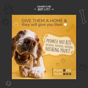 Adoptez un ami carré flyer