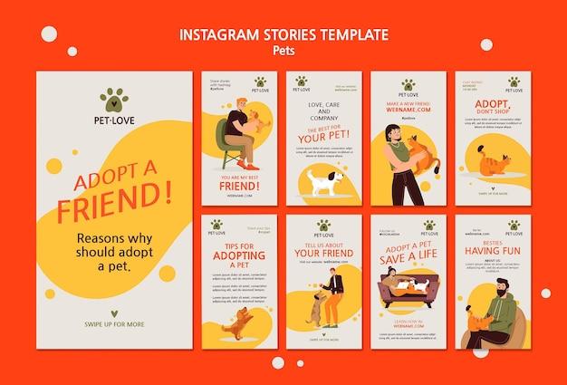 Adoptez un animal instagram stories