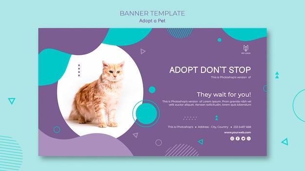 Adoptez une bannière horizontale pour animaux de compagnie