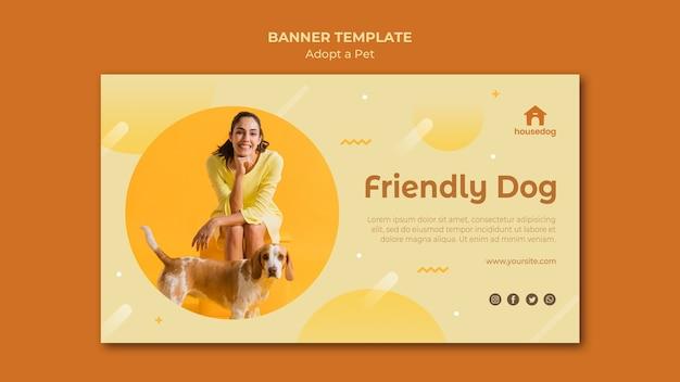 Adoptez une bannière de modèle de chien