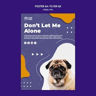 Adoptez un concept d'affiche pour animaux de compagnie