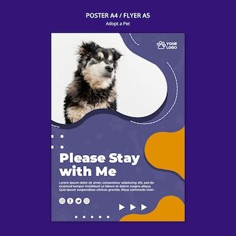 Adoptez une conception d'affiche pour animaux de compagnie