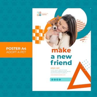 Adoptez une conception de modèle d'affiche pour animaux de compagnie